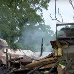 A Mississippi church that violated coronavirus orders was burned down. A spray-painted message said 'bet you stay home now'.