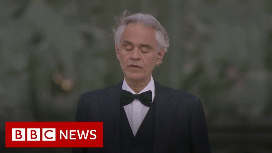 Coronavirus: Italian tenor Bocelli sings at Milan's empty cathedral – BBC News