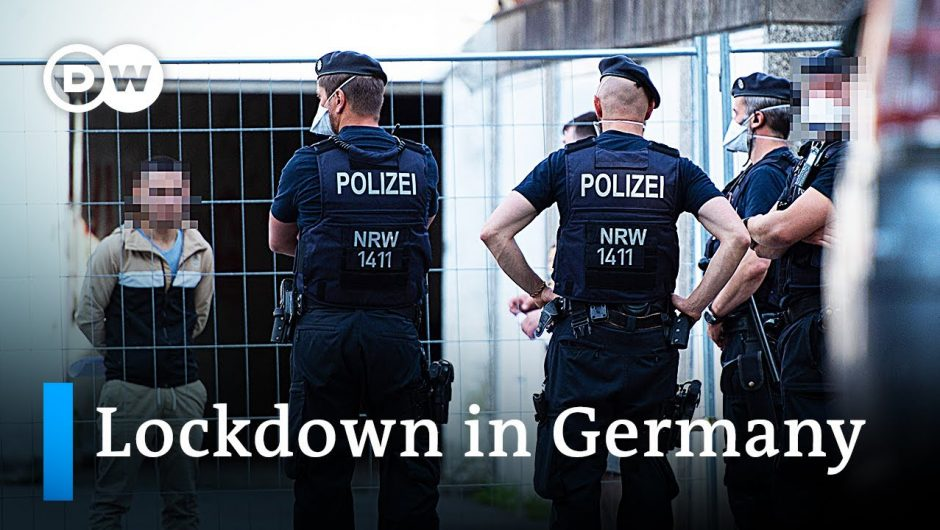 400,000 forced into lockdown after local COVID-19 outbreak in Germany   DW News