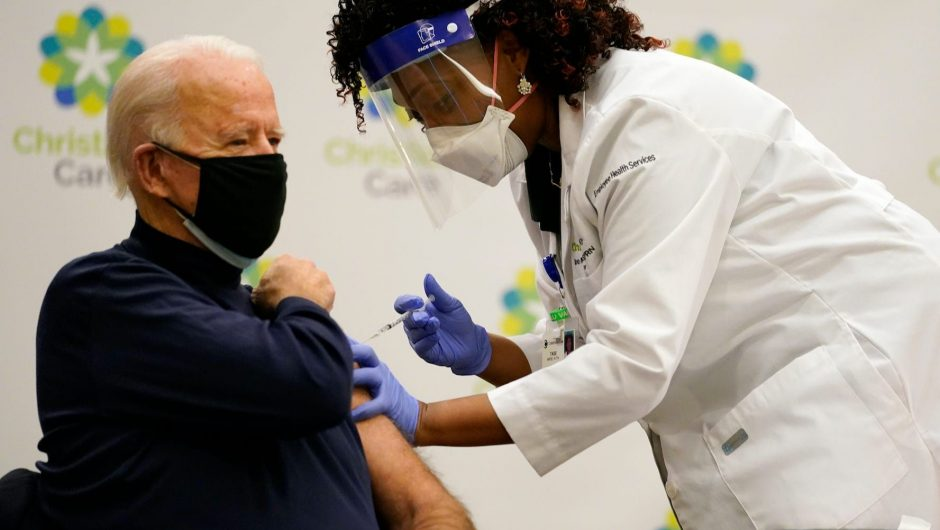 Biden said undocumented immigrants should have access to the COVID-19 vaccine without fear of being arrested by ICE