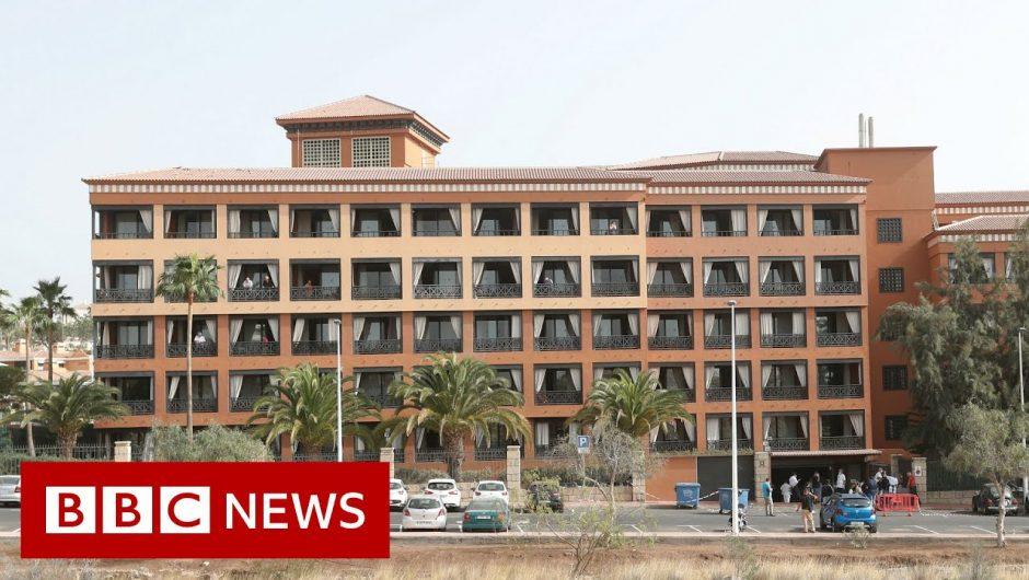 Coronavirus: Britons among hundreds quarantined in Tenerife hotel – BBC News