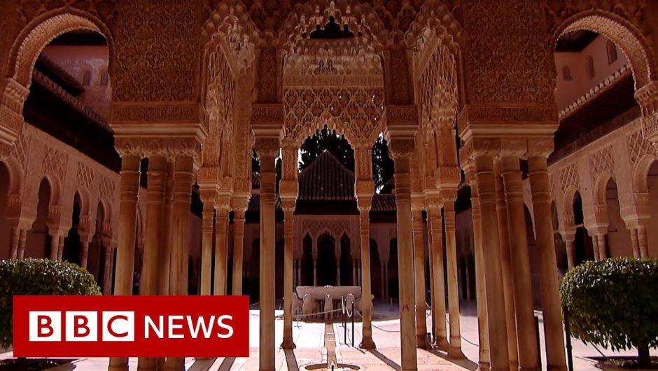 Coronavirus: Spain's Alhambra Palace reopens to visitors – BBC News