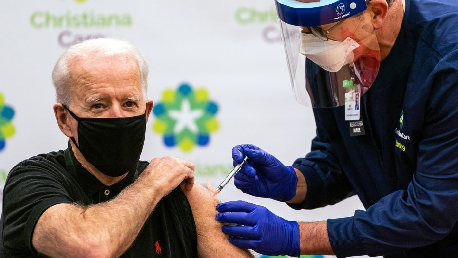 Joe Biden receives COVID-19 Pfizer booster shot today