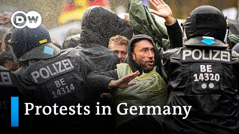 Protesters in Germany demand revocation of all coronavirus restrictions   DW News